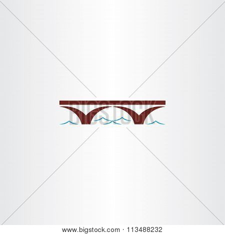 Bridge And River Wave Vector Sign