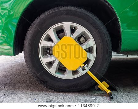 Clamp Vehicle, Wheel Lock