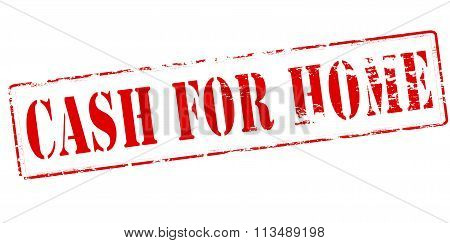 Rubber stamp with text cash for home inside vector illustration