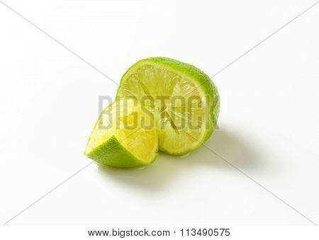 Half a lime fruit - squeezed