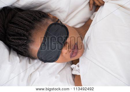 Woman Wearing Eyemask While Sleeping