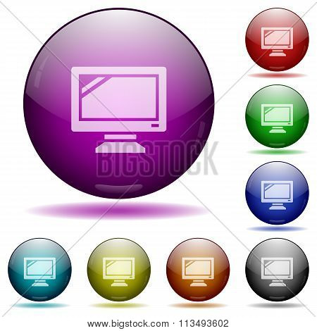 Monitor Glass Sphere Buttons