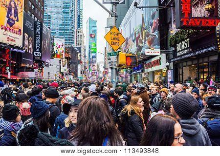 Big Crowd Times Square