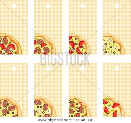 Italian pizza with toppings