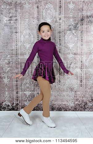 Beautiful Image Of Young Figure Skater Posing