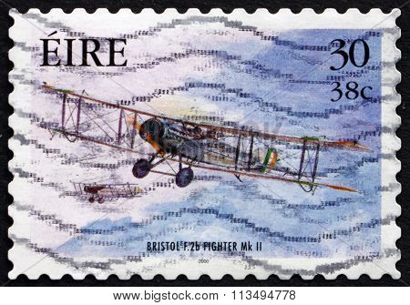 Postage Stamp Ireland 2000 Bristol Fighter, Military Aircraft