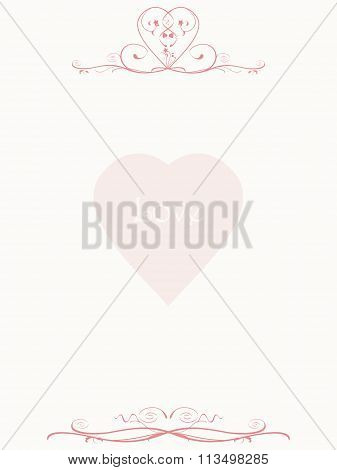 Paper Letter With Floral Patterns And Love Heart