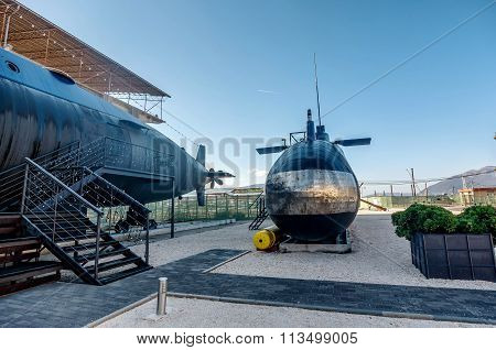 Old Submarine In Porto Montenegro In Tivat City, Montenegro
