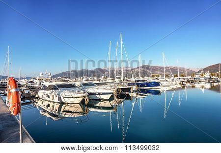 Porto Montenegro In Tivat City, Montenegro