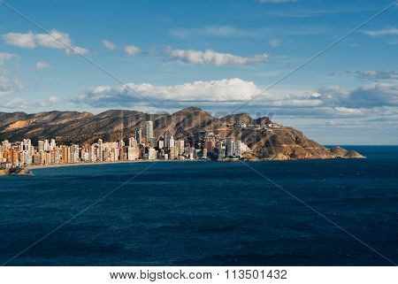Coastline Of A Benidorm City.