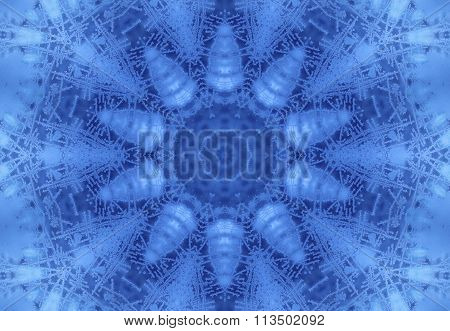 Abstract Concentric Ice Pattern