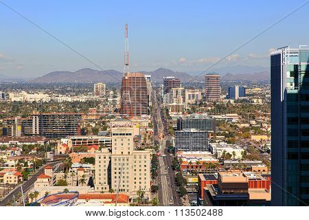 Phoenix, Arizona Usa-december 15, 2015: The Valley Of The Sun Hosts The Fiesta Bowl January 1, 2016