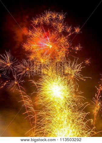 Vibrant Fireworks Display