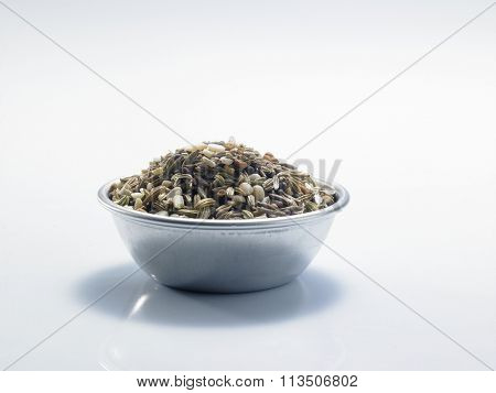 Panch Phoron  means â??five spices.â? It is a spice blend commonly used in Eastern India and Bangladesh and consists of the following seeds: Cumin, Brown Mustard, Fenugreek, Nigella and Fennel