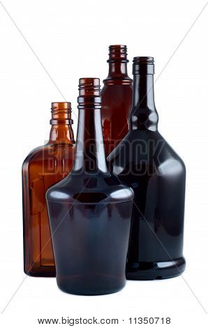 Bottles Studio Shot Isolated On White Background.