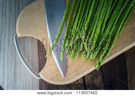 Vegetable And  Clean Food Green Asparagus