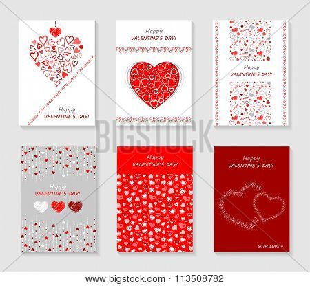 Set of Valentine`s Day cards