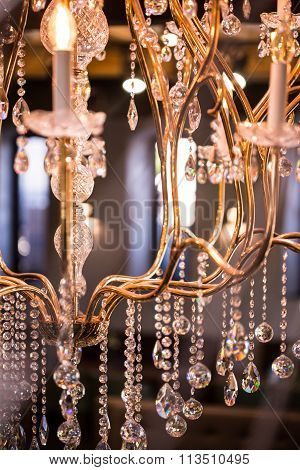 Crystal Chandelier From Fancy Restaurant