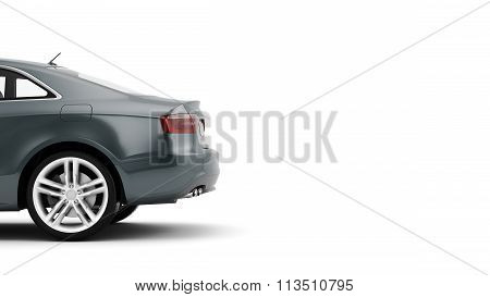 CG 3d render of generic luxury sport car isolated on a white background