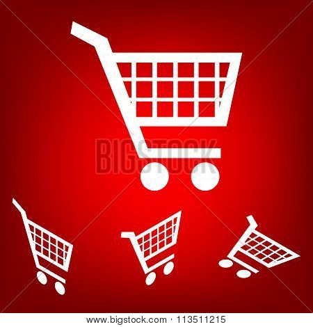Shopping cart icons for online purchases