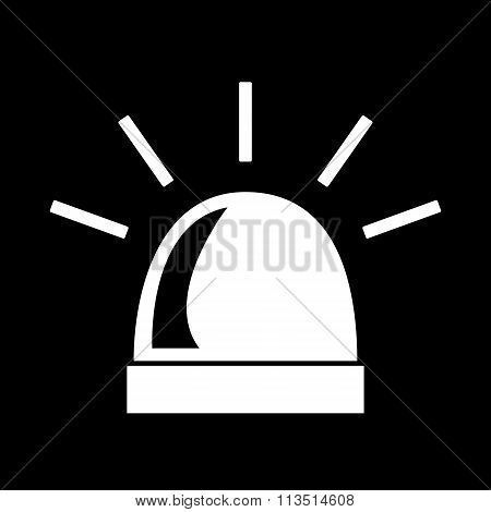 Police single black icon isolated. Vector