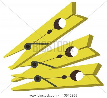 colored pegs and illustrated on a white background