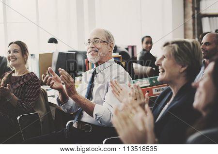 Business Team Meeting Achievement Applause Concept