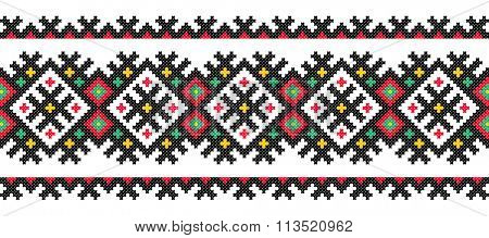 embroidered good like old handmade cross-stitch ethnic Ukraine pattern