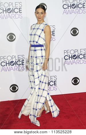 LOS ANGELES - JAN 6:  Troian Bellisario at the Peoples Choice Awards 2016 - Arrivals at the Microsoft Theatre L.A. Live on January 6, 2016 in Los Angeles, CA