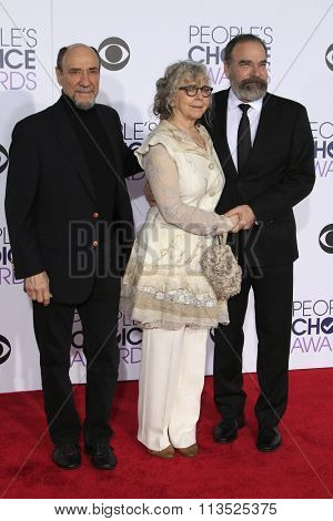 LOS ANGELES - JAN 6:  F. Murray Abraham, Kathryn Grody, Mandy Patinkin at the Peoples Choice Awards 2016 - Arrivals at the Microsoft Theatre L.A. Live on January 6, 2016 in Los Angeles, CA