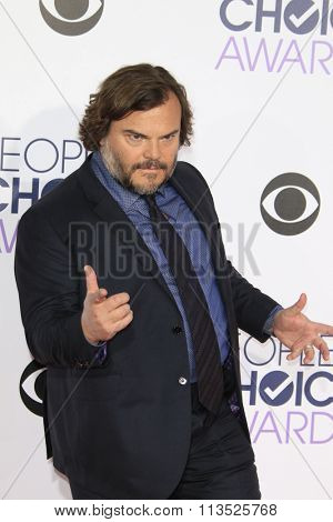 LOS ANGELES - JAN 6:  Jack Black at the Peoples Choice Awards 2016 - Arrivals at the Microsoft Theatre L.A. Live on January 6, 2016 in Los Angeles, CA