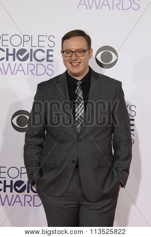 LOS ANGELES - JAN 6:  Matt Bellassai at the Peoples Choice Awards 2016 - Arrivals at the Microsoft Theatre L.A. Live on January 6, 2016 in Los Angeles, CA