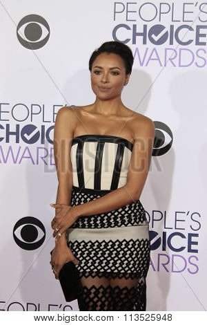 LOS ANGELES - JAN 6:  Kat Graham at the Peoples Choice Awards 2016 - Arrivals at the Microsoft Theatre L.A. Live on January 6, 2016 in Los Angeles, CA