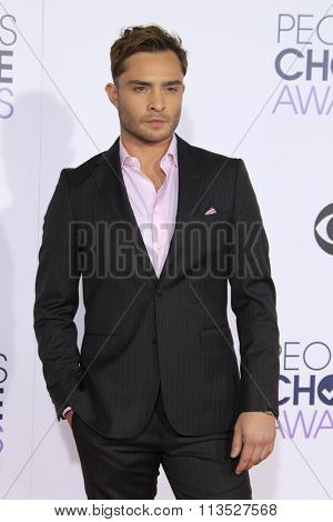 LOS ANGELES - JAN 6:  Ed Westwick at the Peoples Choice Awards 2016 - Arrivals at the Microsoft Theatre L.A. Live on January 6, 2016 in Los Angeles, CA