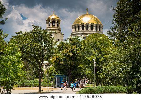Dome of St. Alexander Nevski Cathedral in Sofia, Bulgaria