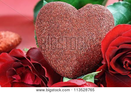 Valentines Day Heart And Roses