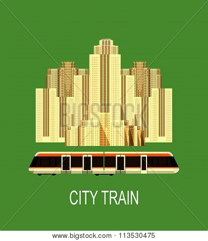 City Train Poster