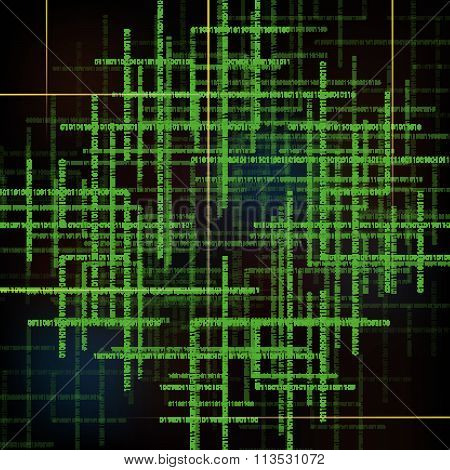 Abstract Technology Background With  Binary Code.