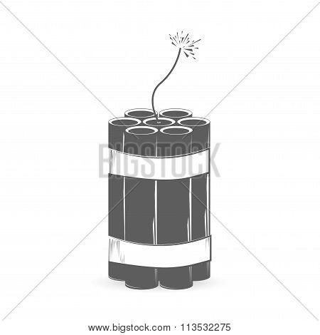 Grey dynamite bomb
