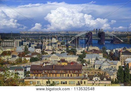 Kiev, Ukraine, view overlooking the town.