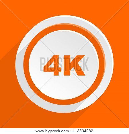 4k orange flat design modern icon for web and mobile app