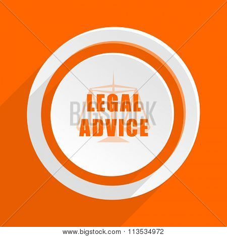 legal advice orange flat design modern icon for web and mobile app