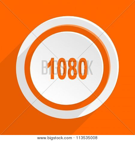 1080 orange flat design modern icon for web and mobile app