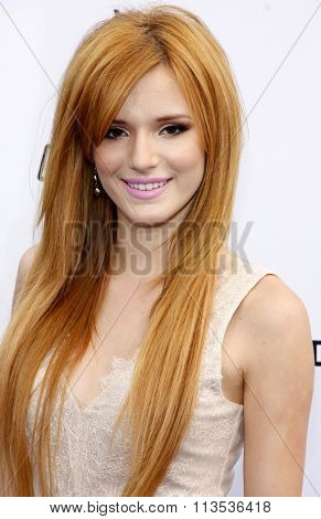 Bella Thorne at the 2012 Do Something Awards held at the Barker Hangar in Los Angeles, USA on August 19, 2012.