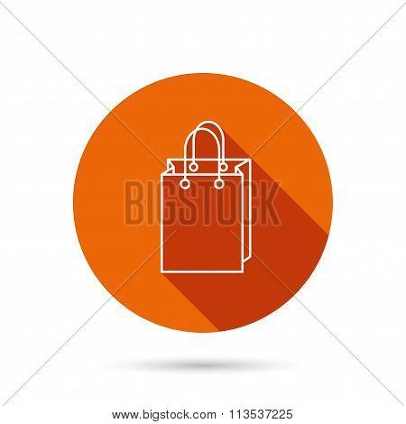 Shopping bag icon. Sale handbag sign.