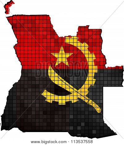 Angola Map With Flag Inside.eps