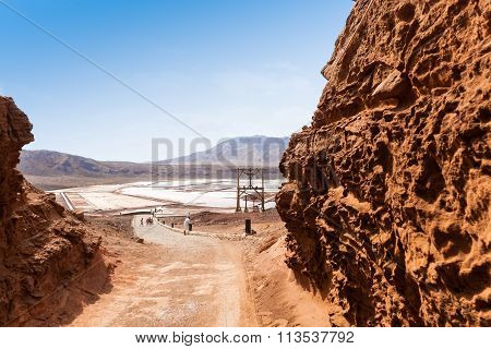 View Of Salinas Entrance  In Sal Cape Verde - Cabo Verde Islands
