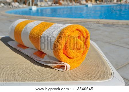 Towel On A Lounger, Summer Vacation