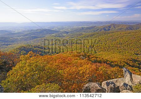 Appalachian Panorama In The Fall