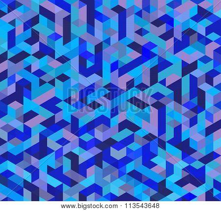 Blue Triangular